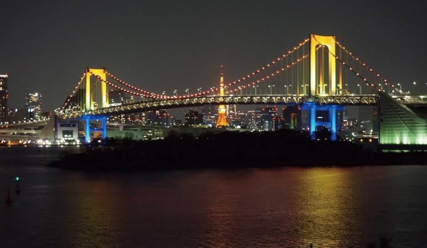 彩虹大桥与东京铁塔