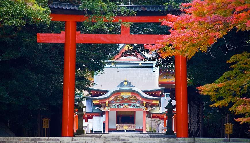 日本鹿兒島穿上和服到「霧島神宮」參拜