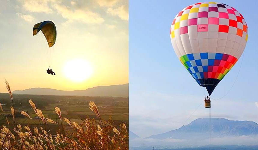熊本阿蘇山滑翔翼熱氣球