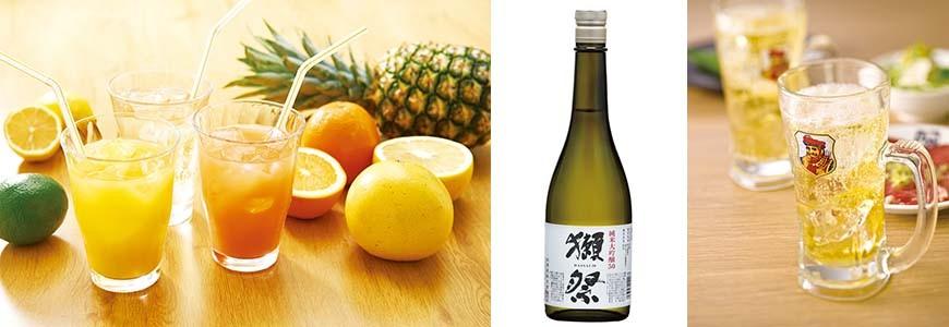 日本人氣燒肉店推薦「牛角」的各式酒類圖片