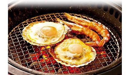 日本人氣燒肉店推薦「牛角」的必點海鮮:大頭鮮蝦、帆立貝圖片
