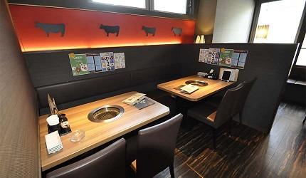 日本人氣燒肉店推薦「牛角」店內照片