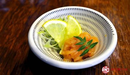 福冈博多美食「とりまぶし」凉拌鱿鱼明太子