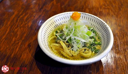 福冈博多美食「とりまぶし」凉拌鸡皮