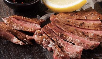 九州福岡必吃名物美食推薦「おおやま」的推薦料理鐵板牛舌(牛タンステーキ)