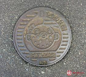 日本福岡「小倉」出發的門司港、下關市美食懷舊之旅的下關市內的河豚人孔蓋