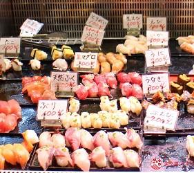 日本福岡「小倉」出發的門司港、下關市美食懷舊之旅的唐戶市場內的壽司