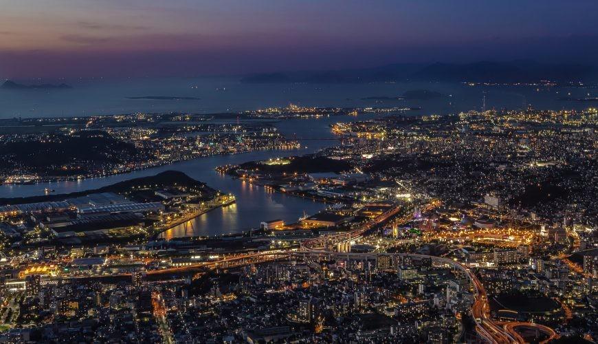 福岡北九州市皿倉山夜景