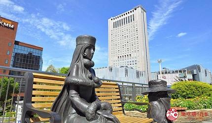 福冈北九州小仓景点银河铁道999雕像