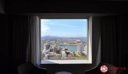 福冈北九州住宿推荐小仓丽嘉皇家酒店窗边景观