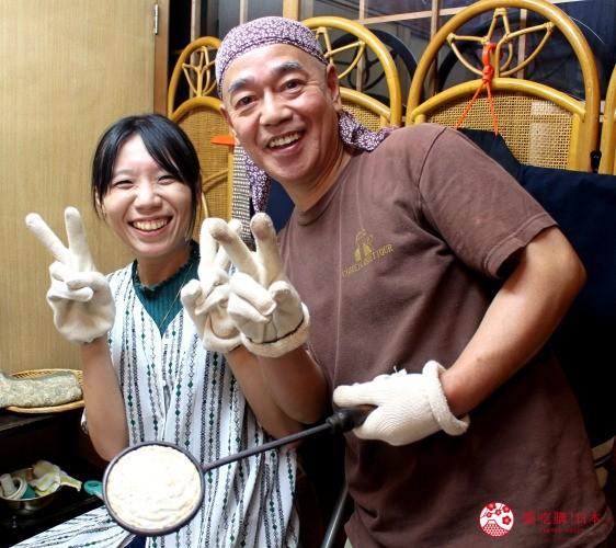 熊本县北景点推荐山鹿市米米惣门老街日式煎饼体验