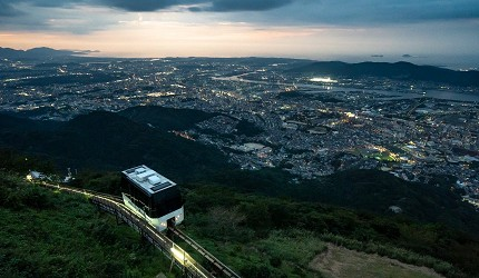 日本新三大夜景都市山口县北九州市价值百亿美元的皿仓山夜景