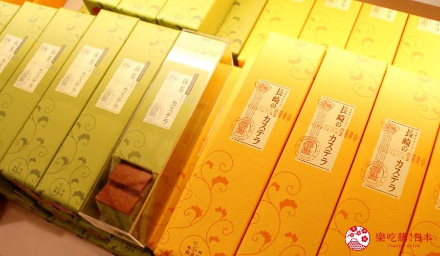 日本九州自由行推薦長崎島原、雲仙的愛野展望台附近的CASTELLA LAND內有售的蜂蜜蛋糕外包裝