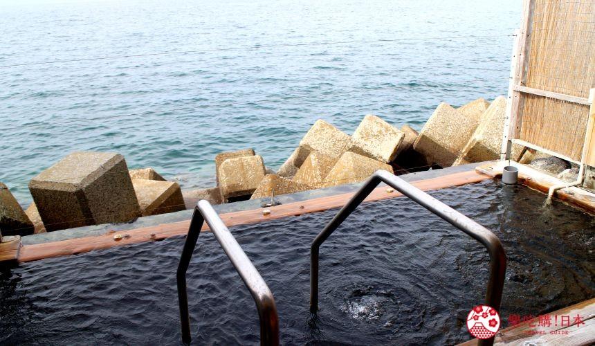 日本九州自由行推薦長崎島原、雲仙的小濱溫泉的露天風呂「茜之湯」