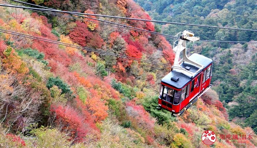 日本九州自由行推薦長崎島原、雲仙的仁田峠的雲仙纜車