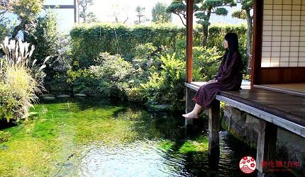 日本九州自由行推薦長崎島原、雲仙的新町的鯉魚街的四明莊
