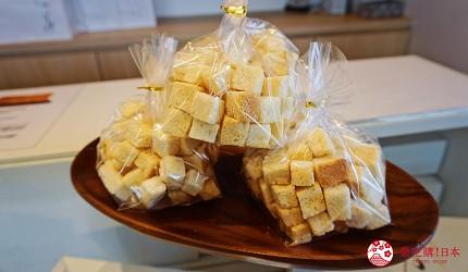 鹿兒島必吃金牌生吐司「乃が美」的吐司邊丁