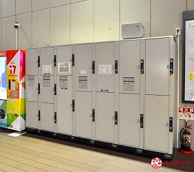福岡自由行必逛OUTLET海購城奧特萊斯瑪麗諾亞城設施投幣式置物櫃行李寄放