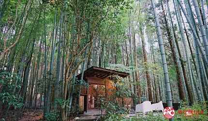 由布院溫泉旅館住宿推薦おやど二本の葦束竹林風呂貸切風呂私人溫泉