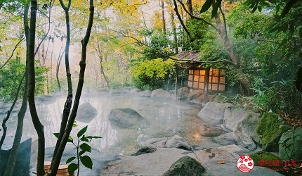 由布院溫泉旅館住宿推薦おやど二本の葦束大浴池貸切風呂私人溫泉