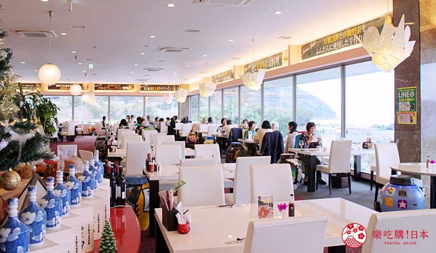 日本九州鹿兒島自由行行程安排看這篇!鹿兒島霧島市的黑醋餐廳「黑醋之鄉 桷志田」的店內一景