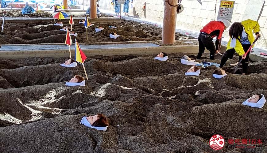 日本九州鹿兒島自由行行程安排看這篇!鹿兒島指宿市砂蒸溫泉會館「砂樂」砂蒸地點