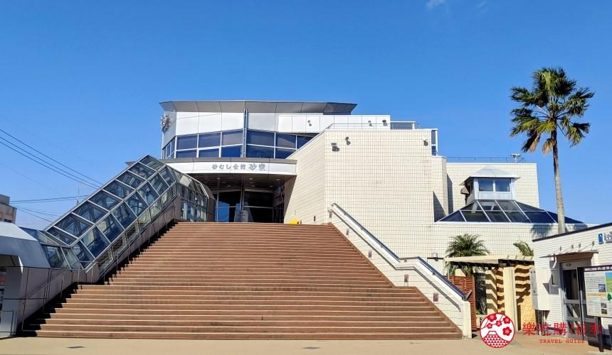 日本九州鹿兒島自由行行程安排看這篇!鹿兒島指宿市砂蒸溫泉會館「砂樂」的外觀