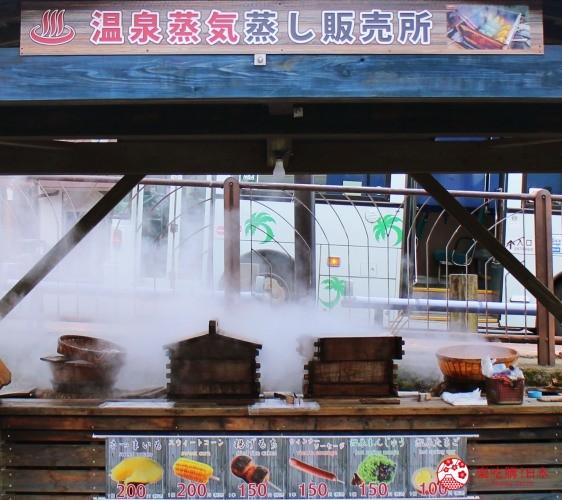 日本九州鹿兒島自由行行程安排看這篇!鹿兒島霧島市的霧島溫泉市場的溫泉蒸氣所