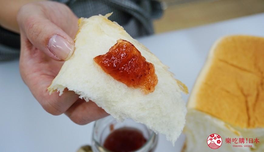 鹿兒島必吃金牌生吐司「乃が美」的吐司搭配果醬