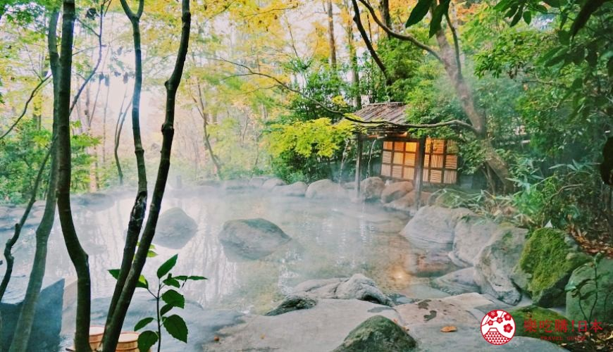 由布院溫泉住宿推薦おやど二本の葦束旅館的大露天風呂