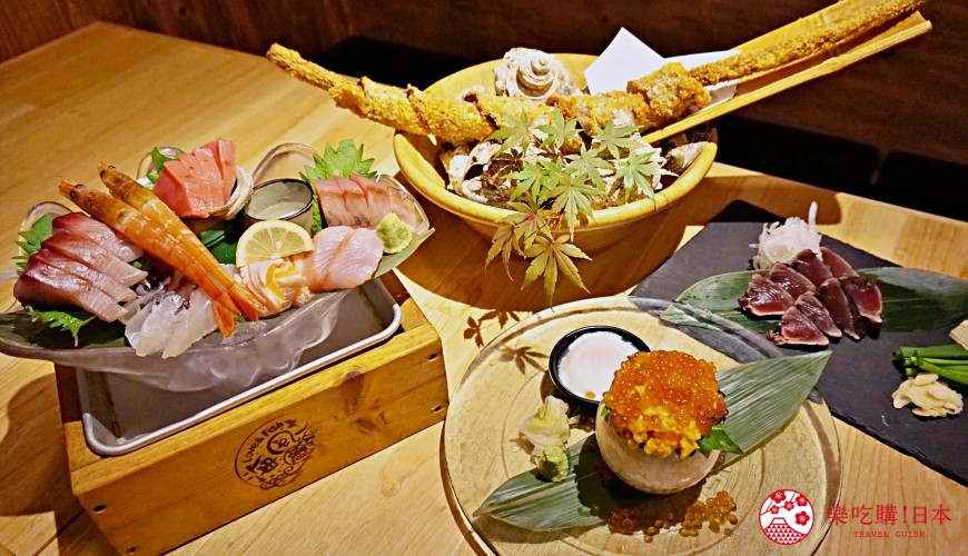 博多必吃高CP值海鮮居酒屋「海風土」:豪華刺身「海之珠寶盒」500日圓銅板價就能吃到 料理集合照