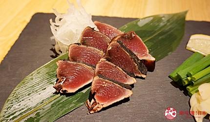 博多必吃高CP值海鮮居酒屋「海風土」的料理稻草燒烤鰹魚