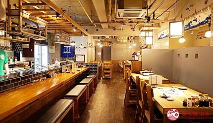 博多必吃高CP值海鮮居酒屋「海風土」的室內空間