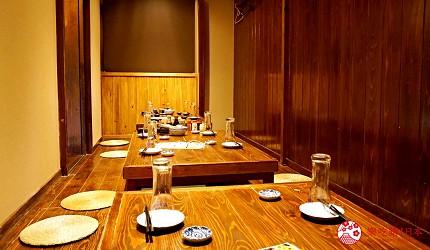 博多必吃高CP值海鮮居酒屋「海風土」的室內座位區